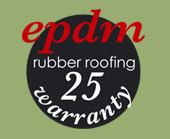 Optional epdm rubber roofing with a 25 year guarantee